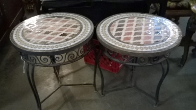 15I PAIR OF ROUND TILE TOP TABLES.jpg