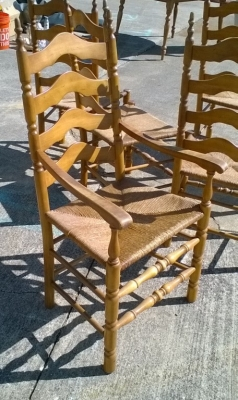 KAP SET OF 6 VINTAGE RUSH SEAT MAPLE CHAIRS (3).jpg