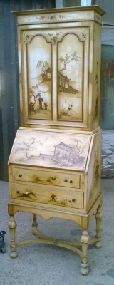 15J04108 CHINESE DECORATED BOOKCASE SECRETARY (1).jpg