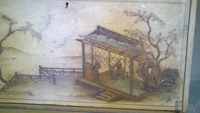 15J04108 CHINESE DECORATED BOOKCASE SECRETARY (3).jpg