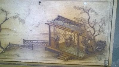 15J04108 CHINESE DECORATED BOOKCASE SECRETARY (3).jpg