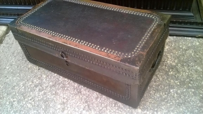 14D10017 SMALL CHINESE LEATHER ON CAMPHOR WOOD TRUNK (4).jpg