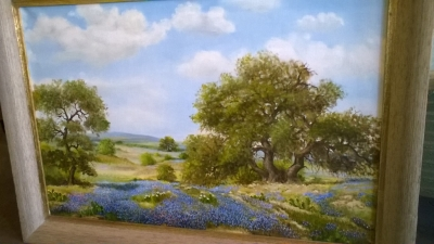 15J18 LARGE BLUE BONNET OIL PAINTING BY JULE PIPER (2).jpg