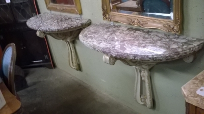 15J12 PAIR OF MARBLE TOP WALL CONSOLES (1).jpg