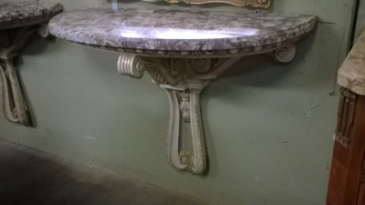 15J12 PAIR OF MARBLE TOP WALL CONSOLES (2).jpg
