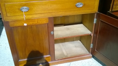 15J24 PAIR OF MAHOGANY BOOKCASES OR CHINA CABINETS (SHELVES NOT SHOWN) (6).jpg