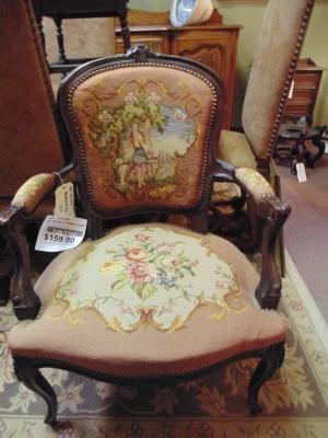 $159.00 11a01049 needlepoint chair 149.JPG