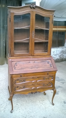 15K11300 LOUIS XV BOOKCASE DROPFRONT SECRETARY (4).jpg