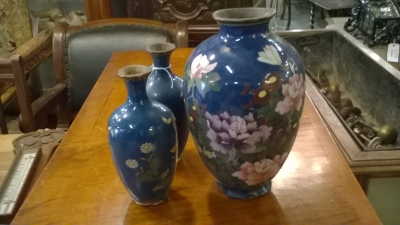 15K11 SET OF 3 CLOISONNE VASES.jpg