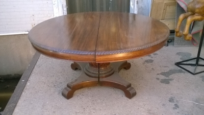 15K18009 MAHOGANY PEDESTAL TABLE WITH 3 LEAVES (1).jpg