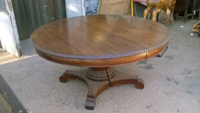 15K18009 MAHOGANY PEDESTAL TABLE WITH 3 LEAVES (3).jpg