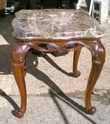 15K19151 MARBLE TOP SIDE TABLE.jpg