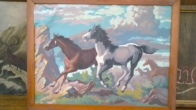 15K24516 FRAMED PAINT BY NUMBER 5 GALLOPING HORSES.jpg