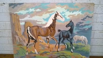 15K24524 UNFRAMED PAINT BY NUMBERS 3 HORSES.jpg