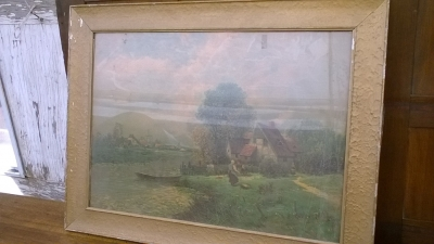15K24532 FRAMED HOLLAND PRINT WITH WINDMILL IN BACKGROUND.jpg