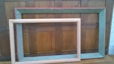 15K24544 AND 45 SMALL UNFINISHED WOOD FRAME AND GREEN WOOD FRAME.jpg