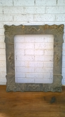 15K24566 AS IS GESSO AND WOOD FRAME WITH 4 SCROLLS .jpg
