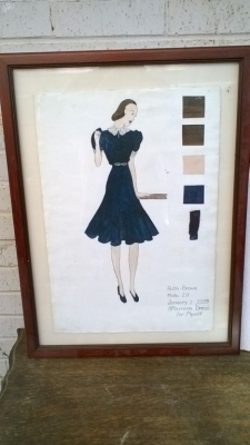 15K24644 FRAMED RUTH BROWN BLUE DRESS.jpg