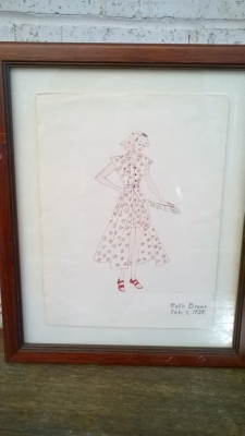 15K24645 FRAMED RUTH BROWN PINK AND WHITE DRESS.jpg