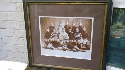 15K24650 FRAMED VINTAGE FOOTBALL PHOTO.jpg