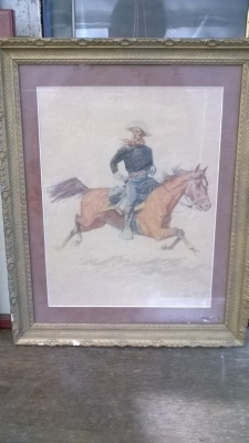 15K24653 FRAMED GALLOPING COWBOY IN WHITE HAT.jpg