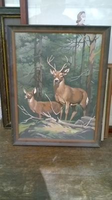 15K24653 FRAMED PAINT BY NUMBER BUCK AND DOE.jpg