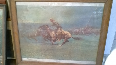 15K24654 AS IS FRAMED STAMPEDE  IN STORM.jpg