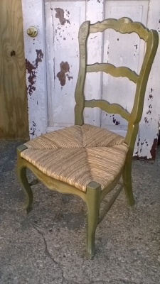 15K24664 GREEN LOUIS XV RUSH SEAT CHAIR.jpg