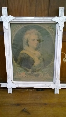 15K24723 WHITE PAINTED TWIG FRAMED PICTURE OF OLDER WOMAN.jpg
