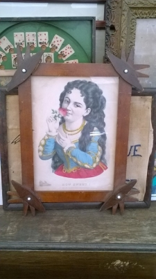 15K24742 WOOD FRAMED GIRL HOLDING ROSE.jpg