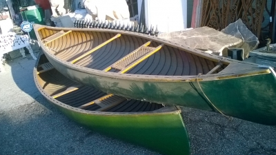 15K24742-45 3 VINTAGE CANOES AND A KAYAK (7).jpg
