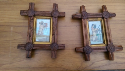 15K24754 PAIR OF SMALL TWIG FRAME MUSICAL DOG PRINTS.jpg