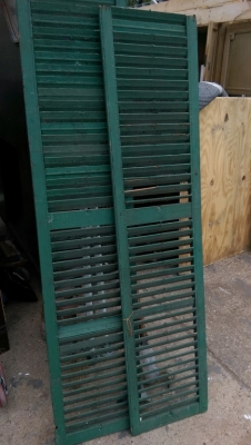 15K24757 PAIR OF TALL NARROW DARK GREEN SHUTTERS.jpg