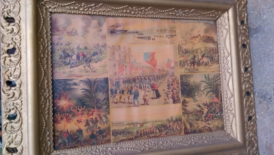 15K24785 GILT FRAMED AMERICAN WAR BATTLE SCENES.jpg